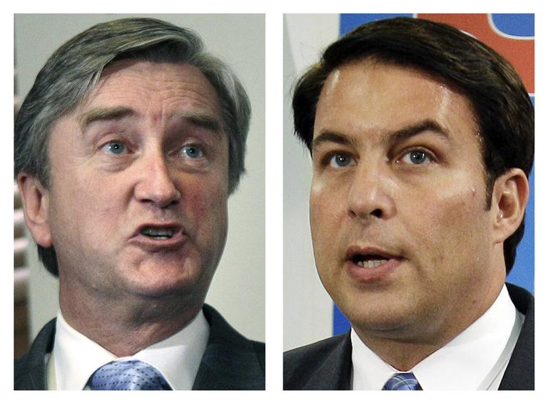 Democratic U.S. Rep. John Tierney, left, and Republican challenger Richard Tisei (AP File)