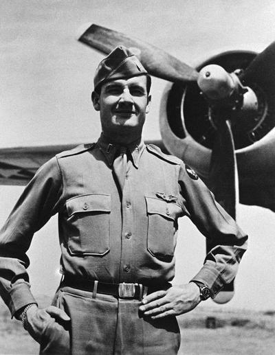 This 1944 photo shows George McGovern when he received the Distinguished Flying Cross. (AP/McGovern Family)