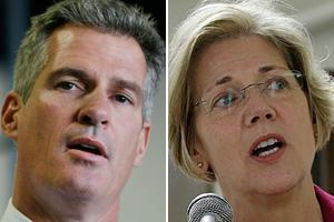 Sen. Scott Brown, Elizabeth Warren (AP)