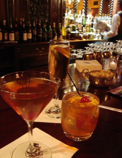 A Manhattan and an Old Fashioned at Locke-Ober (LA & OC Foodventures/Flickr)