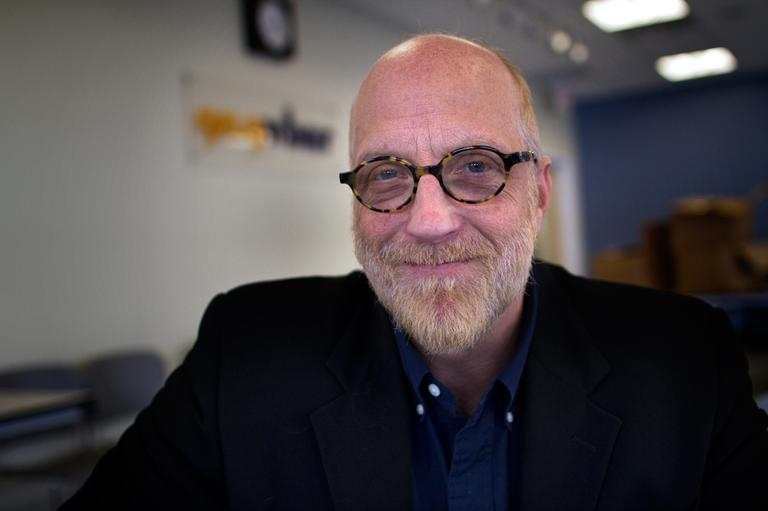 "Chris Elliott's latest book is ""The Guy Under The Sheets."" (Jesse Costa/WBUR)"