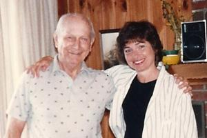Dr. Marcia Angell with her father in August 1987, months before he killed himself (Courtesy)