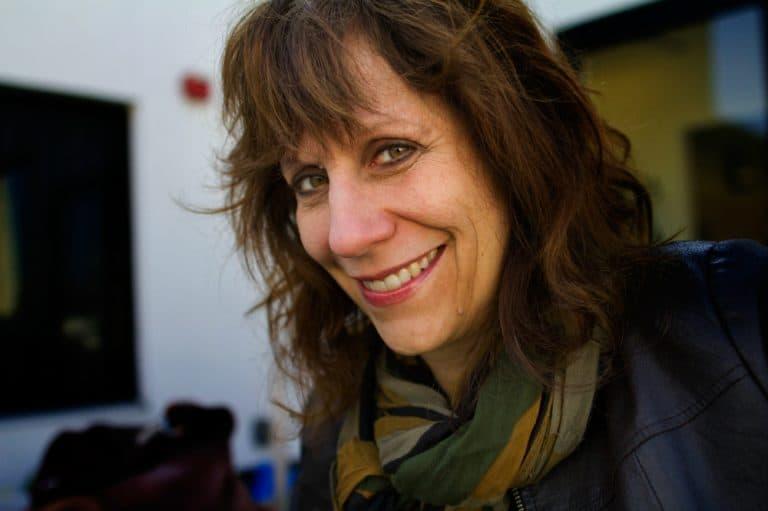 Comedian, writer and producer Lizz Winstead. (Jesse Costa/WBUR)
