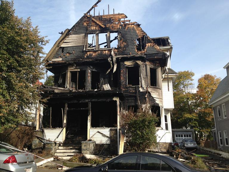 The aftermath of the fire. (Rachel Rohr/WBUR)