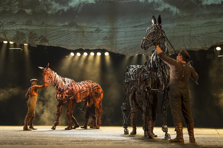 "Joey and Topthorn, the ""stars"" of ""War Horse."""
