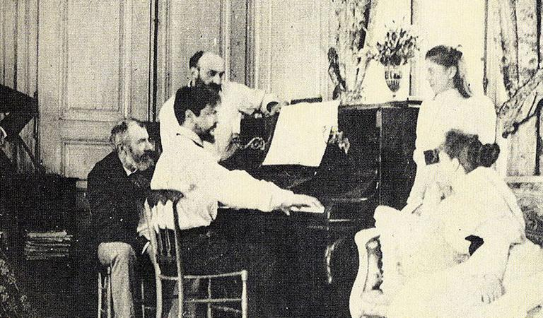 Claude Debussy at the piano, 1893