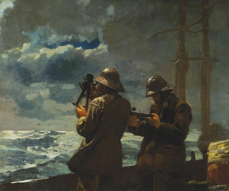 """""""Eight Bells,"""" 1886. Addison Gallery of American Art, Phillips Academy, Andover."""