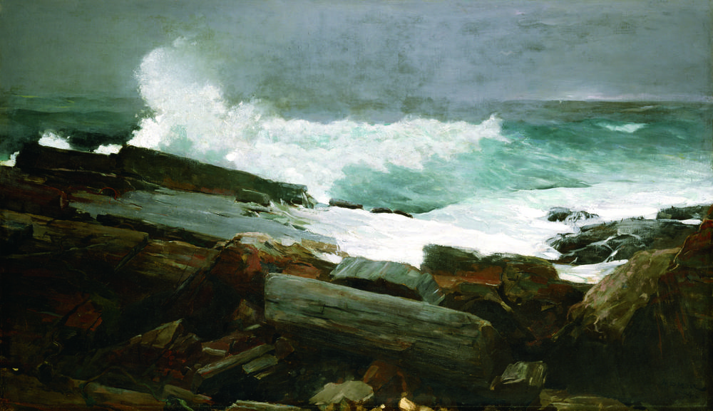 """Winslow Homer's """"Weatherbeaten"""","""" 1894. (Courtesy of Portland Museum of Art. Bequest of Charles Shipman Payson. Photo by Melville D. McLean.)"""