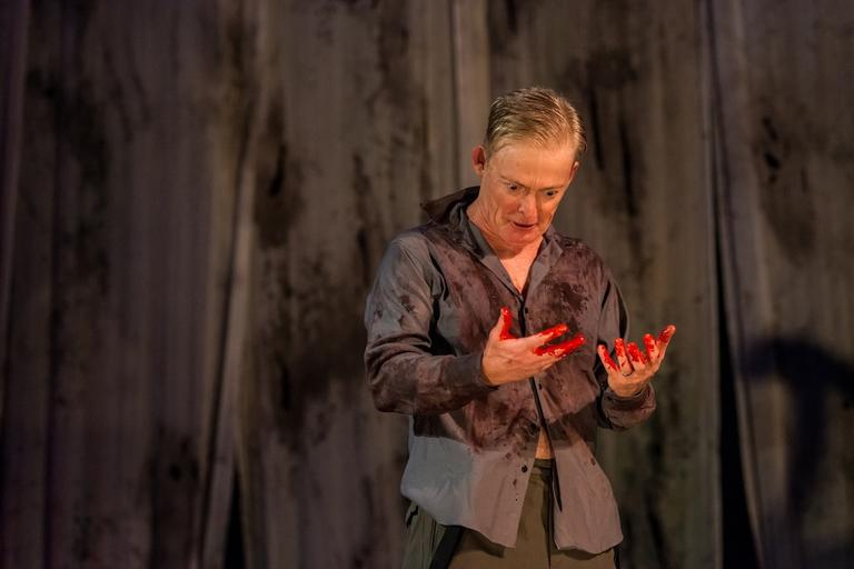 Allyn Burrows as Macbeth (Stratton McCrady)