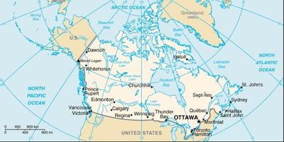 CIA map of Canada (Wikimedia Commons)