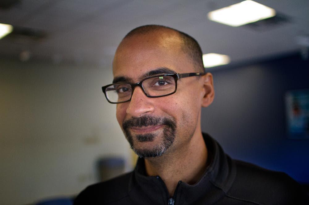 Genius grant winner Junot Diaz visited Radio Boston recently. (Jesse Costa/WBUR)
