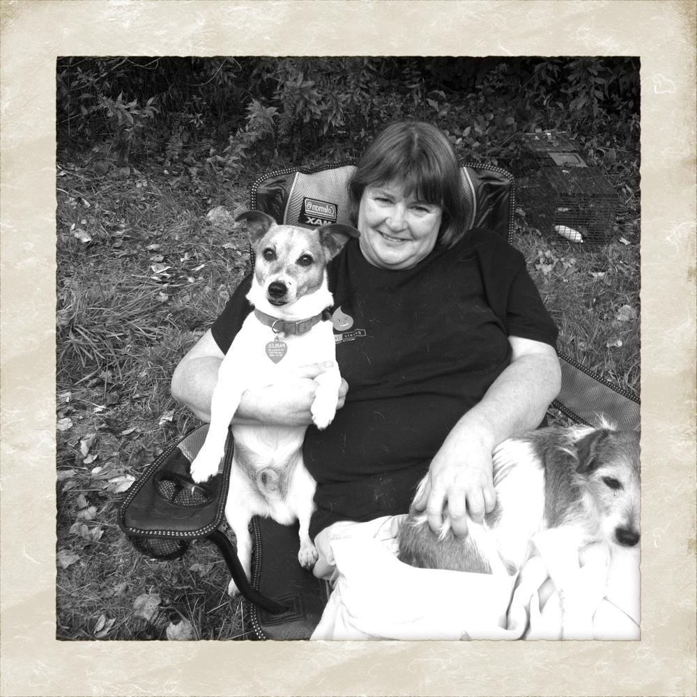 Veterinarian Shelley Fitzgerald with her friends, Eddie and Jackie Parlee.