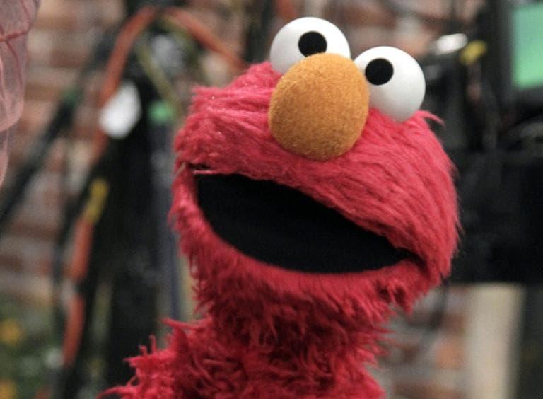 "Elmo, the ""Sesame Street"" Muppet, spoke to WNYC's ""The Brian Lehrer Show"" about Hurricane Sandy. (Richard Drew/AP)"