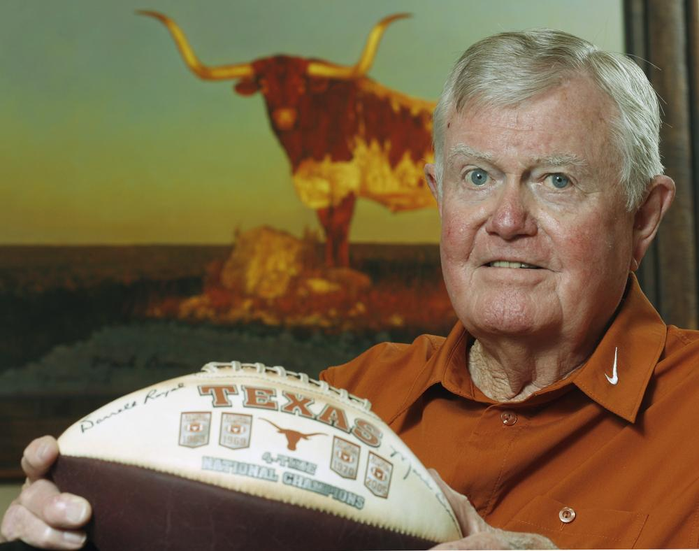Former Texas head football coach Darrell Royal died on Wednesday at 88. He coached the Longhorns to 16 bowl appearances and three national championships. (Harry Cabluck/AP)