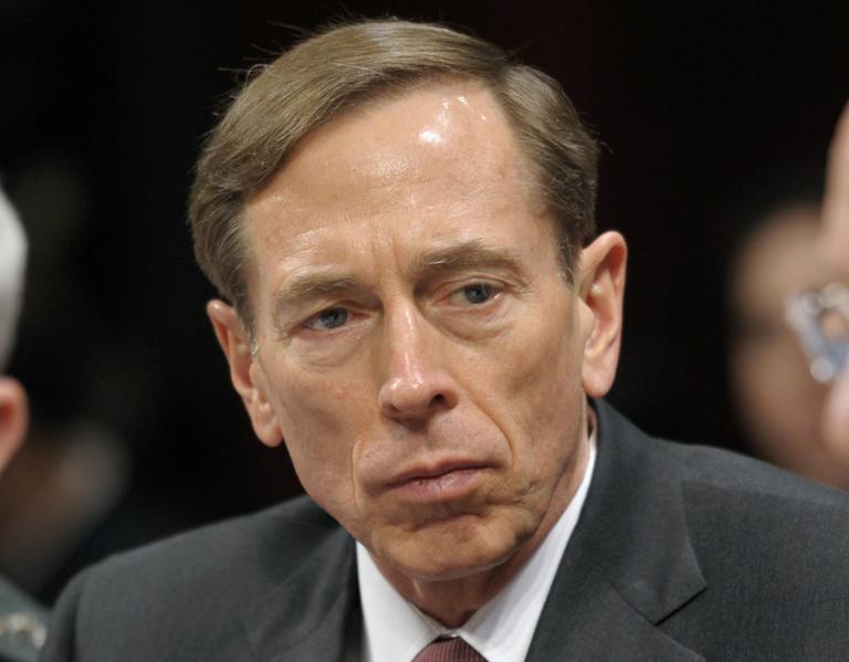 In this photo from February 2012, then-CIA Director David Petraeus testifies before the House Intelligence Committee. (AP Photo/Cliff Owen)