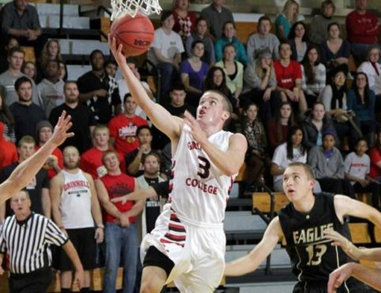 Grinnell guard Jack Taylor scored 138 points against Faith Baptist Bible to shatter the NCAA scoring record in Division III. (AP Photo/Grinnell College, Cory Hall)