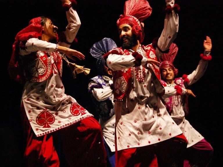 Boston University Bhangra dancers. (Greg Cook)