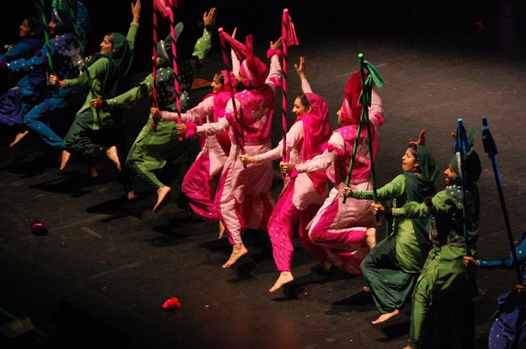 RU Bhangra dancers from Rutgers University. (Greg Cook)