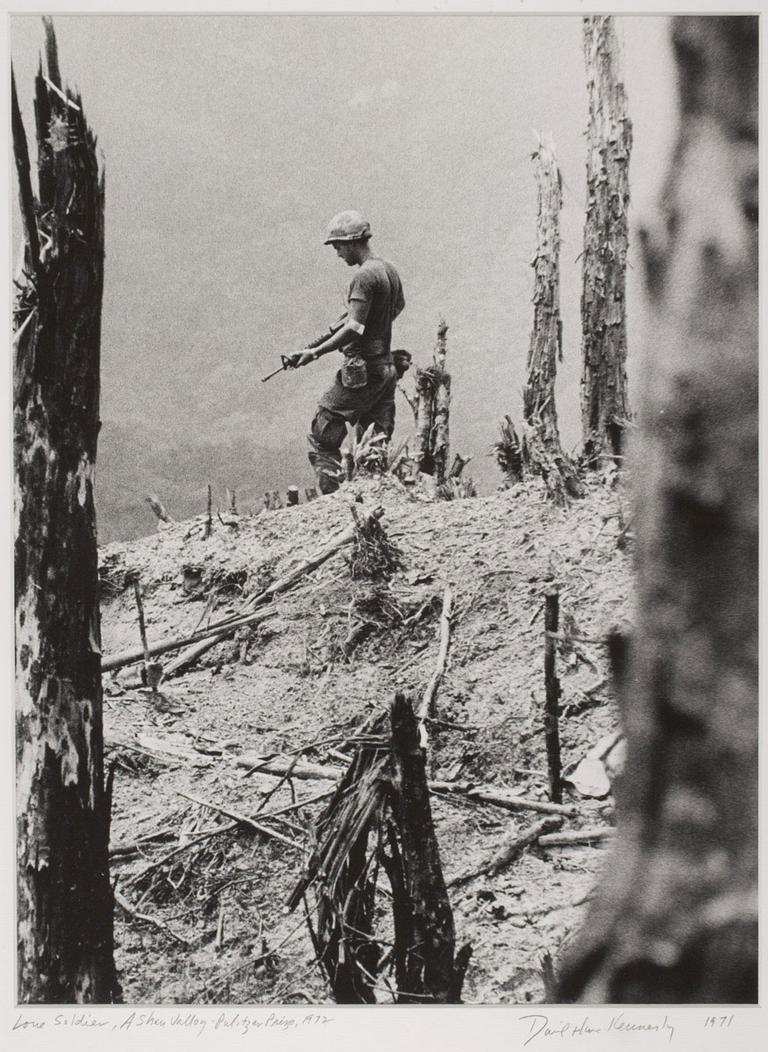 """David Hume Kennerly, """"Lone Soldier, A Shau Valley,"""" April 27, 1971, from the portfolio that won him the 1972 Pulitzer Prize for feature photography."""