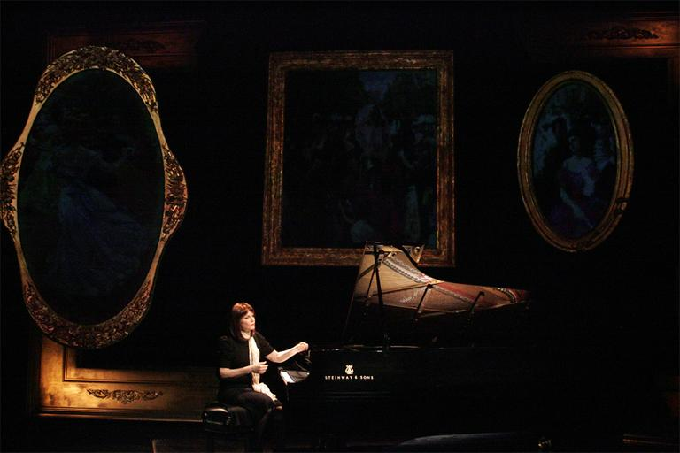 "Mona Golabek tells her mother's World War II story in ""The Pianist of Willesden Lane."" (Courtesy Michael Lamont/ArtsEmerson)"