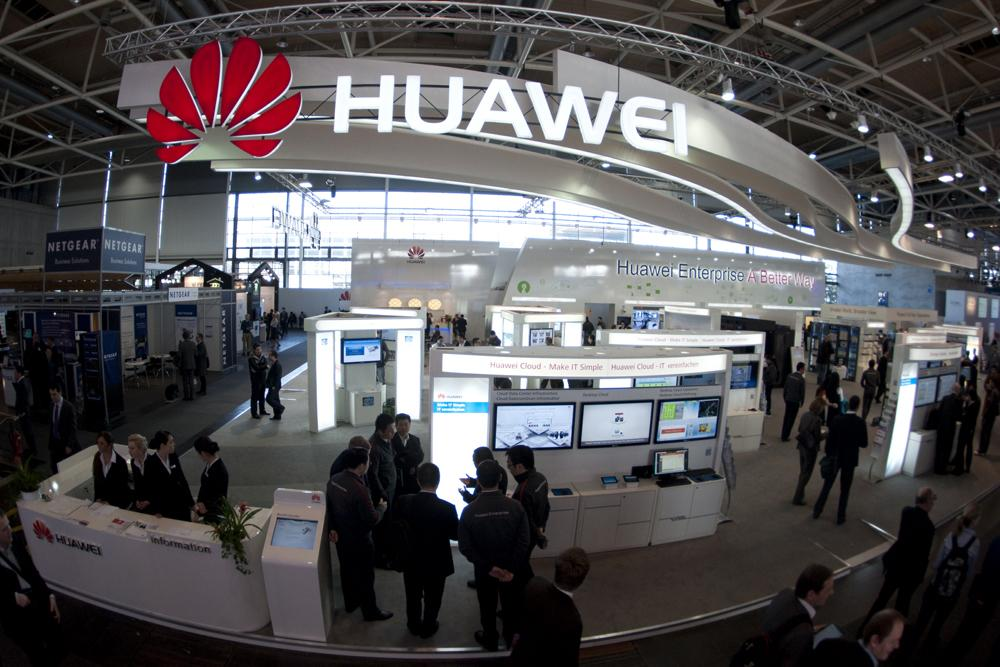 A Huawei booth is pictured at a computer expo in Germany in 2012. MIT is cutting ties with the Chinese company. (Nigel Treblin/DAPD)