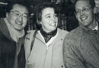 From left, Partners In Health founders Jim Yong Kim, Ophelia Dahl and Paul Farmer, in 1987.