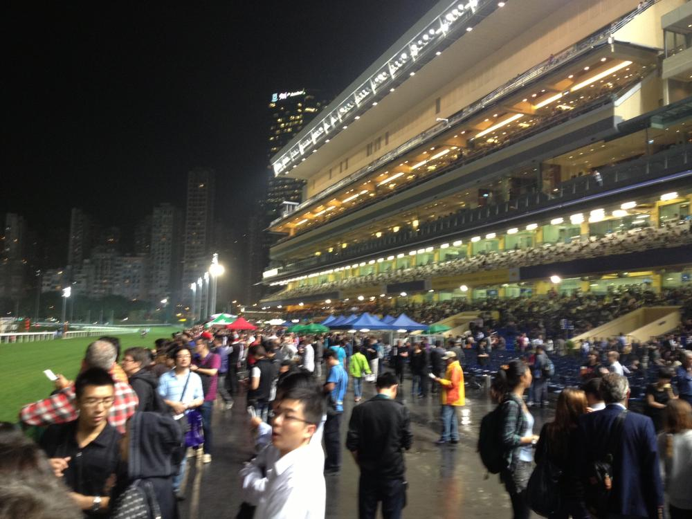 Happy Valley Racecourse grandstands. (Charlie Schroeder/OAG)