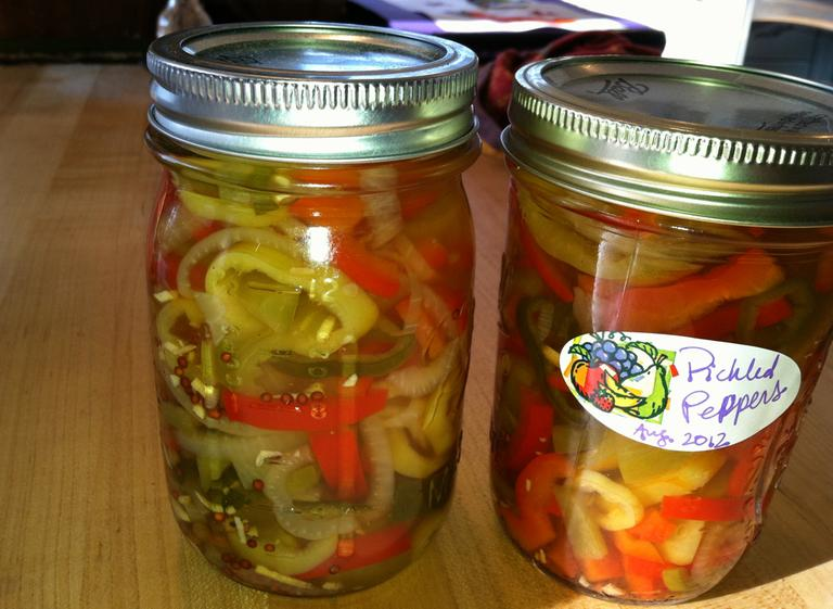Spunky Pickled Peppers and Onions (Kathy Gunst/Here & Now)
