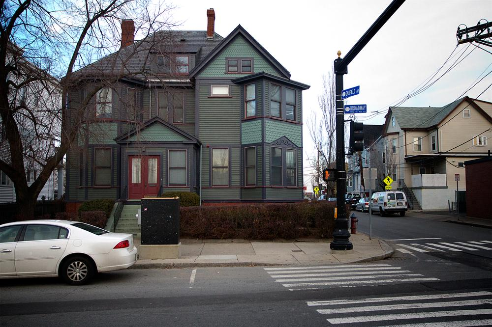 The group home at 181 Broadway St. in Somerville, where Malissie Holloway was found dead (Jesse Costa/WBUR)