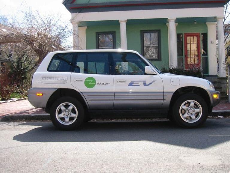 A Toyota RAV-4 EV Zipcar, in March 2002 (Courtesy Roy Russell)