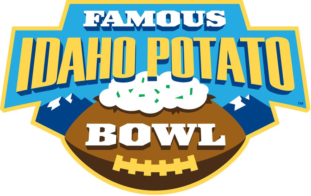 The Famous Idaho Potato Bowl logo artfully combines football and potatoes ... with a touch of sour cream. (PRNewsFoto/The Famous Idaho Potato Bowl)