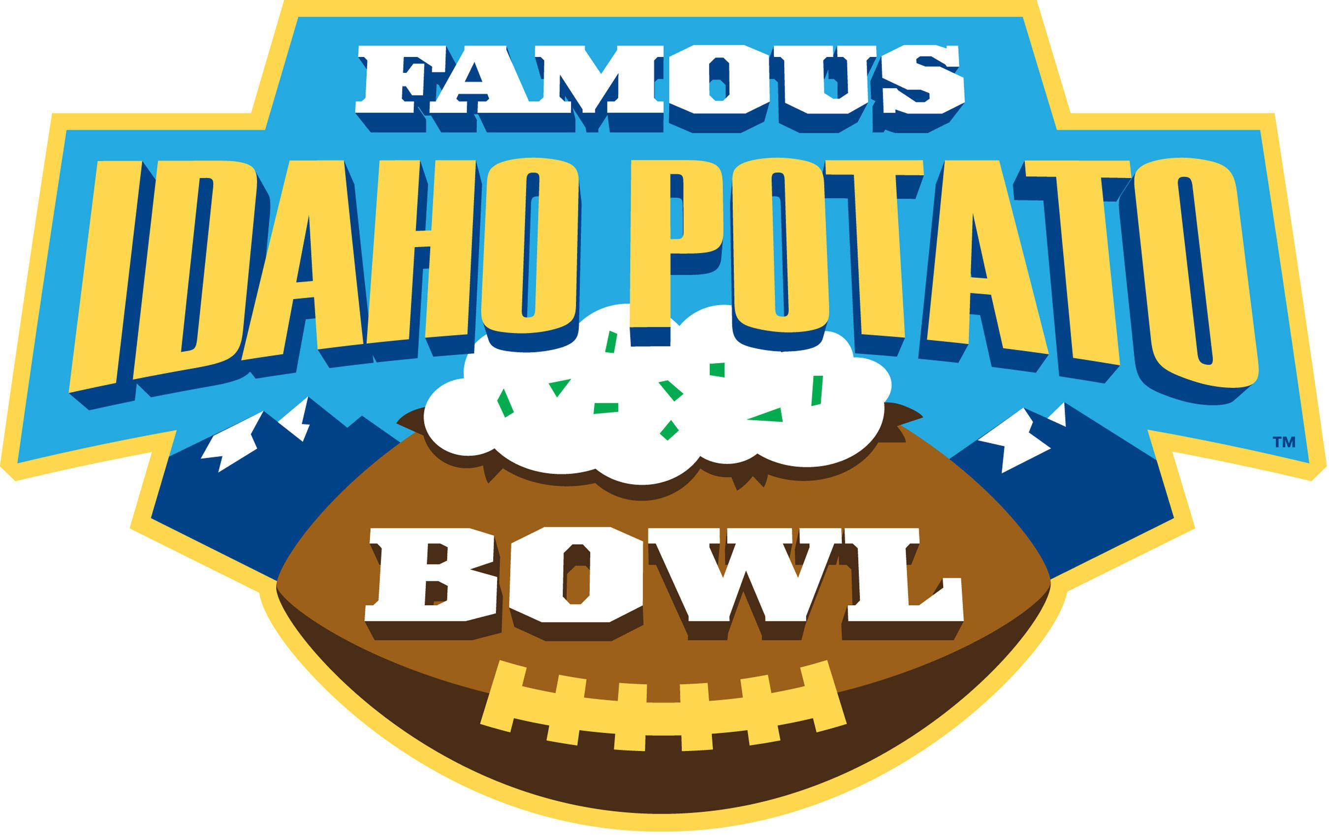 The Famous Idaho Potato Bowl Logo Artfully Combines Football And Potatoes With A