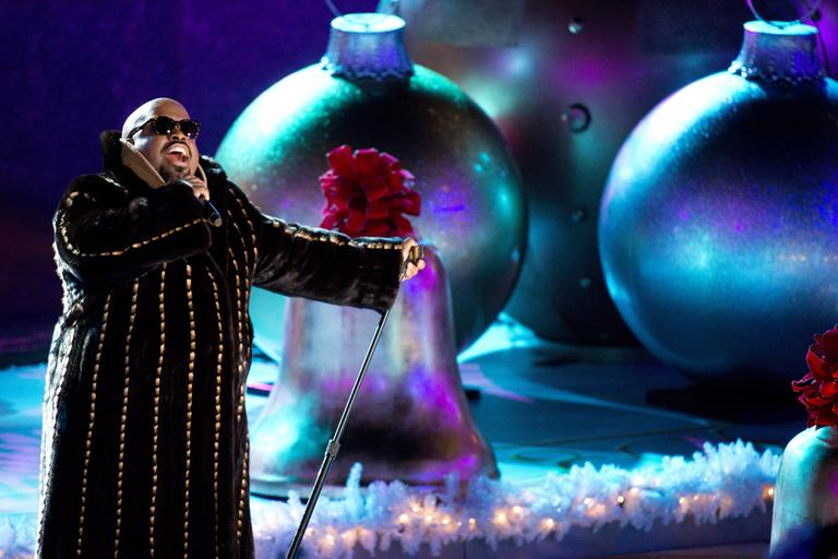 CeeLo Green performs at the 80th annual Rockefeller Center Christmas tree lighting ceremony on Wednesday, Nov. 28, 2012 in New York. (AP)