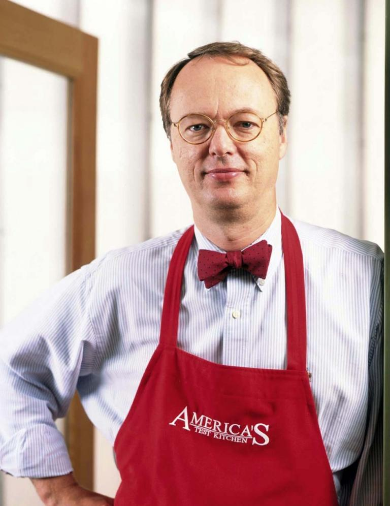 """I hate the idea that cooking should be a celebration or a party,"" Christopher Kimball said in a recent New York Times Magazine profile. (Keller + Keller/AP)"