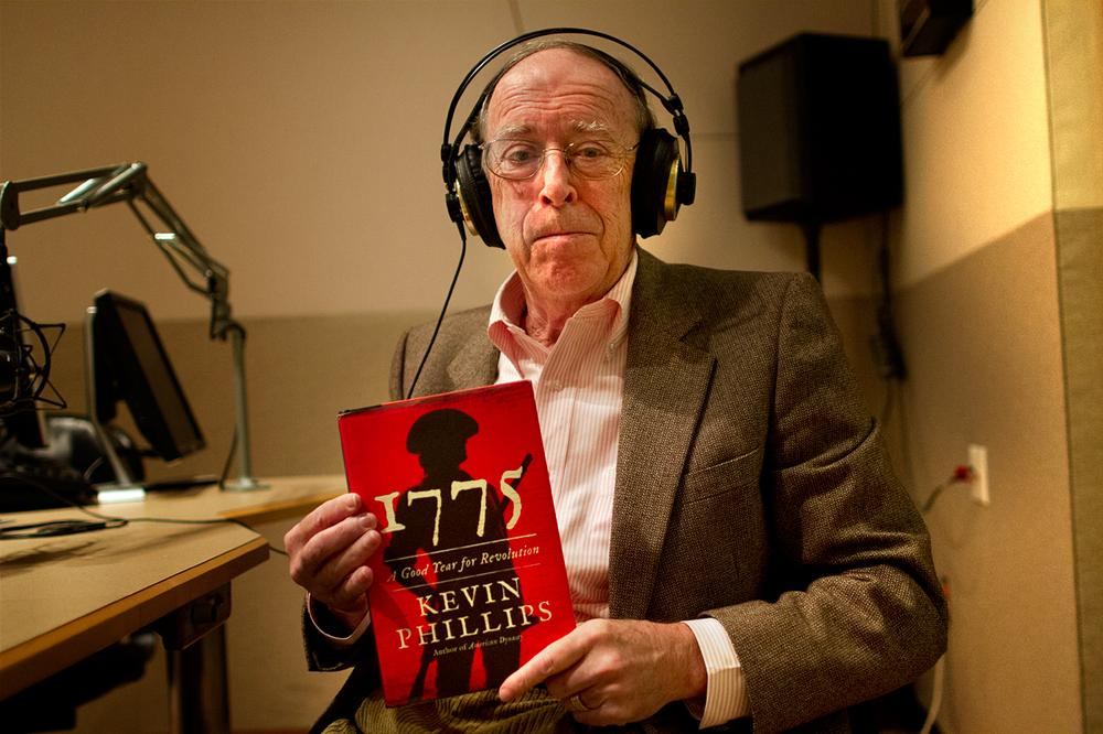 Author Kevin Phillips in the studio. (Jesse Costa/WBUR)