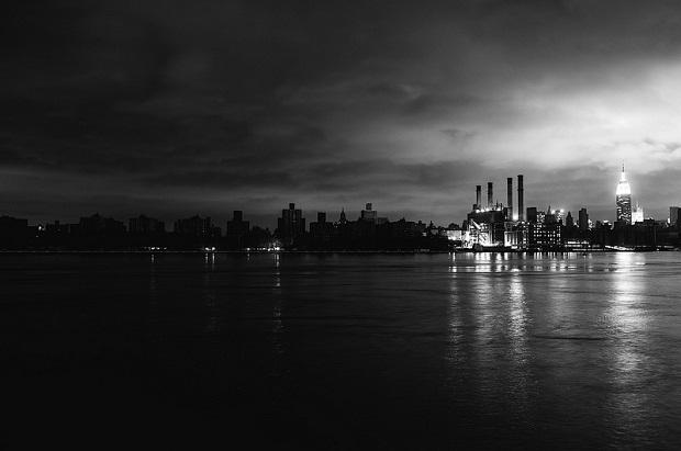 Lower Manhattan in power outage in the wake of Superstorm Sandy (Jonathan Percy/Flickr)