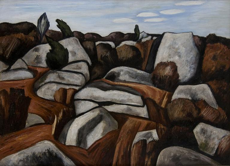 """Marsden Hartley """"Rock Doxology"""" 1931 (Courtesy of the Cape Ann Museum)."""