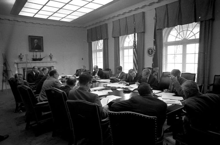 October, 19 1962: Executive Committee of the National Security Council meeting. (Cecil Stoughton/John F. Kennedy Presidential Library and Museum)