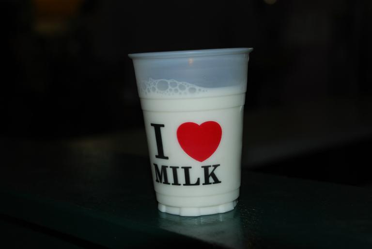 A cup of milk. (Joe Shlabotnik/Flickr)