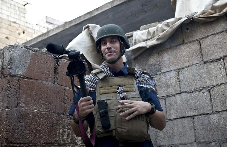 This photo posted on the website freejamesfoley.org shows journalist James Foley in Aleppo, Syria, in November, 2012. (Nicole Tung/AP, freejamesfoley.org)