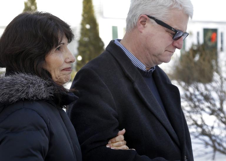 Diane and John Foley speak about their son, James Foley, a journalist who was kidnapped in Syria by gunmen on Thanksgiving, during a news conference at their home in Rochester, N.H., Thursday. (Elise Amendola/AP)