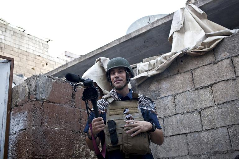 James Foley in Aleppo, Syria, in November 2012. His family says he went missing in Syria more than one month ago while covering the civil war there. (Nicole Tung, freejamesfoley.org/AP)