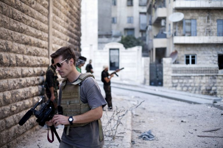 This photo posted on the website freejamesfoley.org shows journalist James Foley in Aleppo, Syria, in September, 2012. (AP/Manu Brabo, freejamesfoley.org)