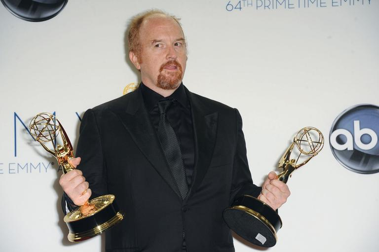 Louis C.K. poses for a photo at the Emmy Awards, September 23, 2012. (Katy Winn/AP)