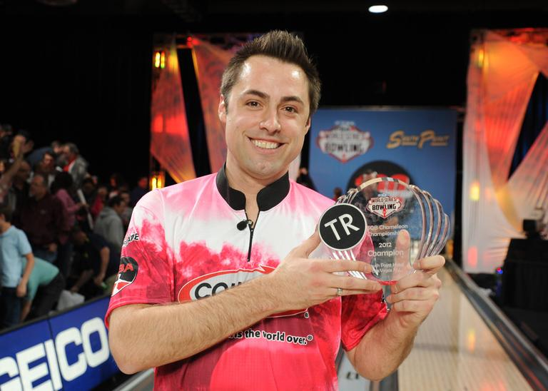 Scott Norton won the World Series of Bowling Chameleon Championship in November. Norton, who is gay, may have made sports TV history while celebrating the win. (Photo courtesy Professional Bowlers Association)