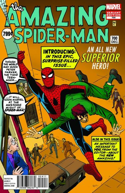 """The 700th issue of """"The Amazing Spider-Man."""" (Photo Courtesy)"""