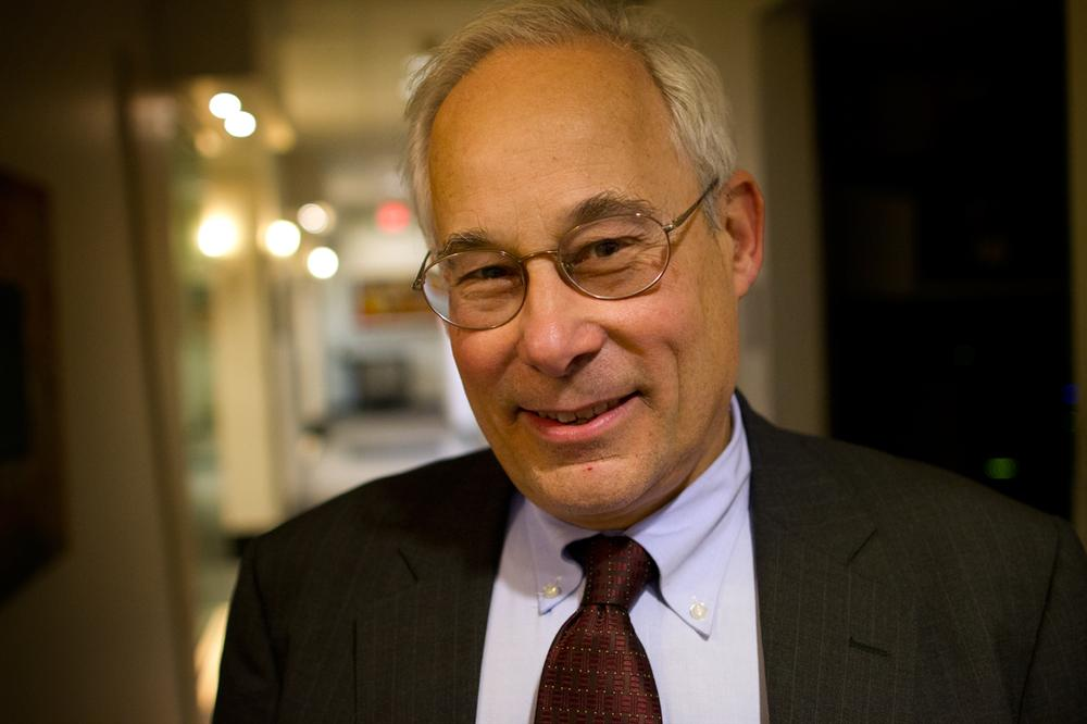 Dr. Donald Berwick, who's mulling a run for Massachusetts governor, at WBUR. (Jesse Costa/WBUR)