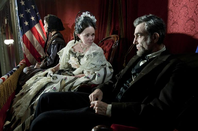 "Sally Field and Daniel Day-Lewis appear in a scene from ""Lincoln."" (David James/DreamWorks/Twentieth Century Fox/AP)"