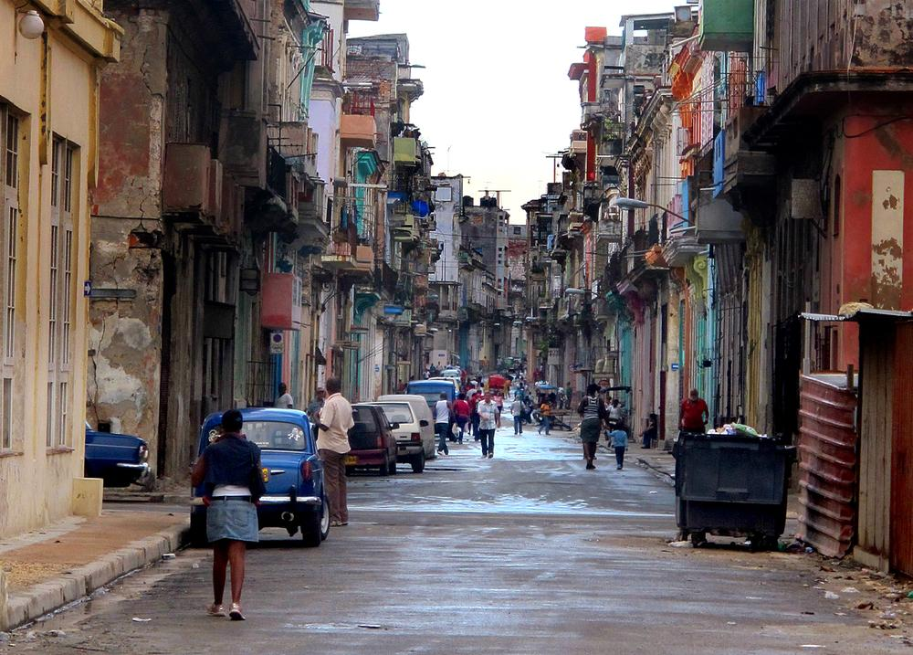Cubans start their day, heading to school and work in the streets of Havana.