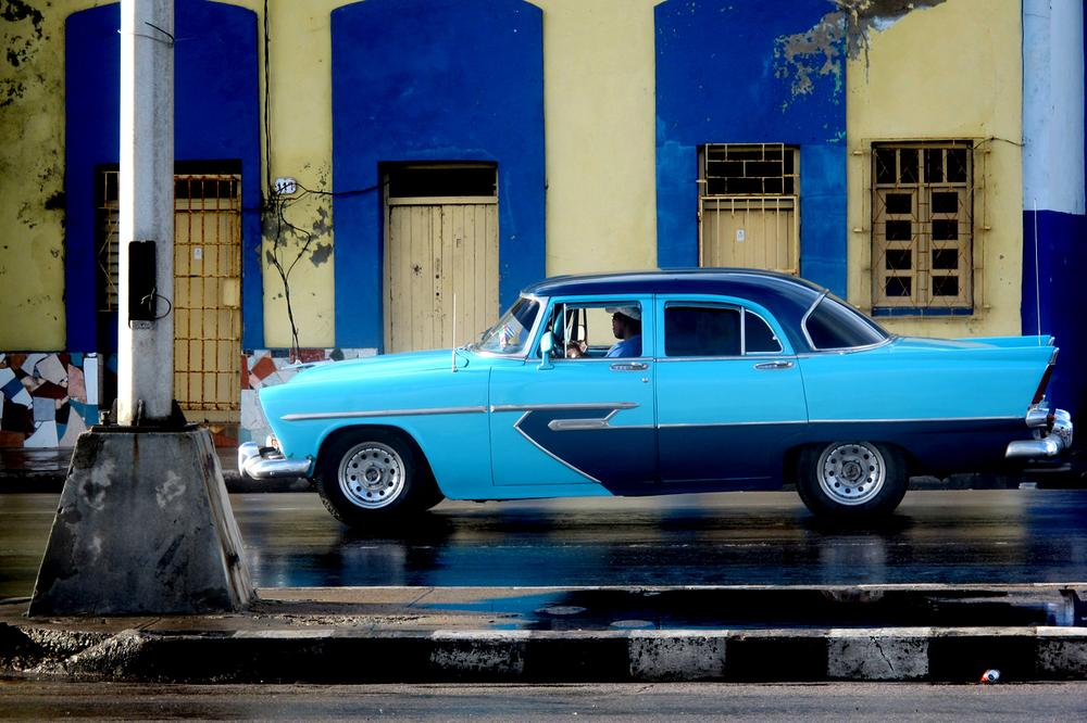 Those mythic, vintage American cars are stunning and ubiquitous. They're like rolling reminders of the past when the U.S and Cuba had a relationship.